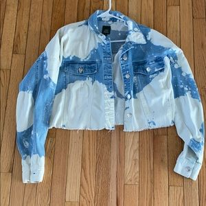 Women's Denim Jacket Crop Top